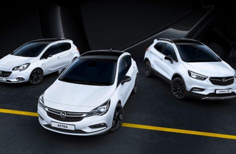Novos Black Edition da Opel